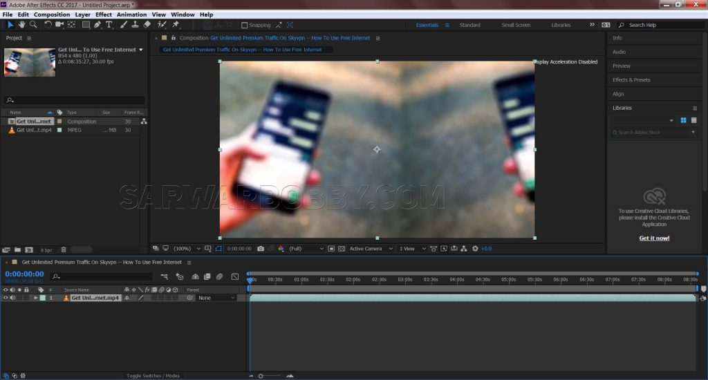 Adobe After Effects CC 2017 14.0.1 64 Bit New Composition - sarwarbobby.com