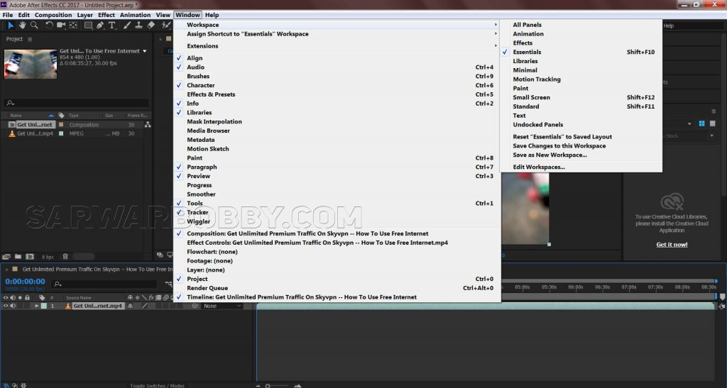 Adobe After Effects CC 2017 14.0.1 64 Bit New Function - sarwarbobby.com