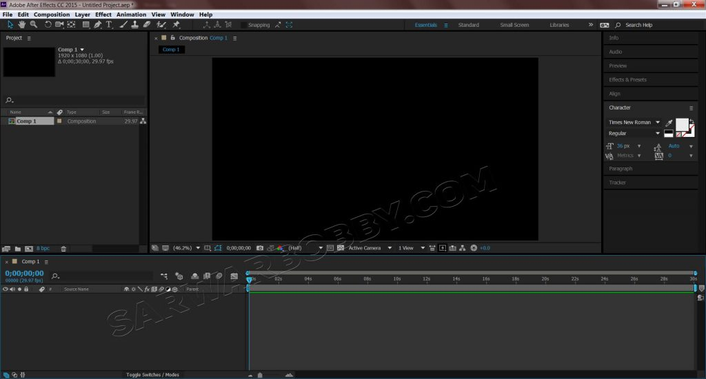 Adobe After Effects CC 2015.3 13.8.0 (x64) Portable New Composition - SarwarBobby.Com