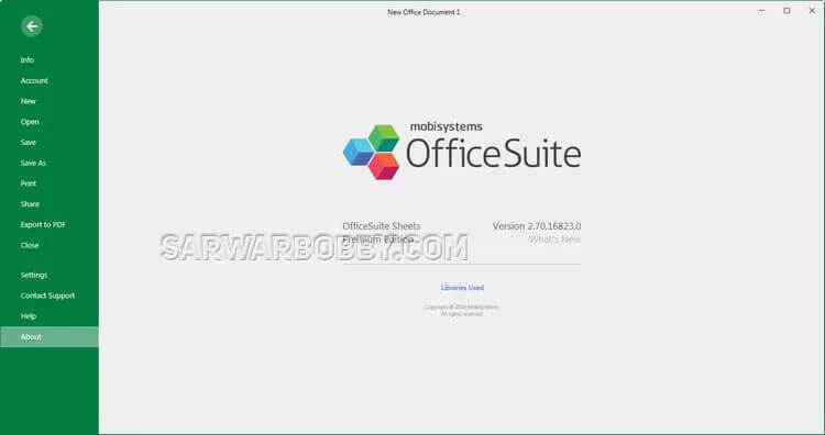 Officesuite 4.10.30471.0 ( 2020 ) + Portable Latest Version Free Download - SARwarBobby.Com