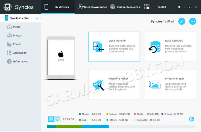 Anvsoft SynciOS Data Recovery 3.0.3 Download - SarwarBobby.Com