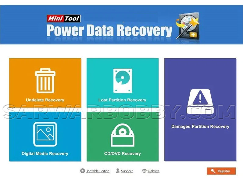 MiniTool Power Data Recovery 9.0 + Portable Download - SarwarBobby.Com