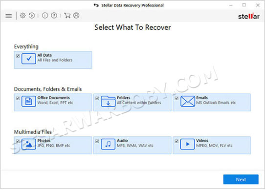 Stellar Data Recovery Professional 2020 Free Download . SarwarBobby.Com