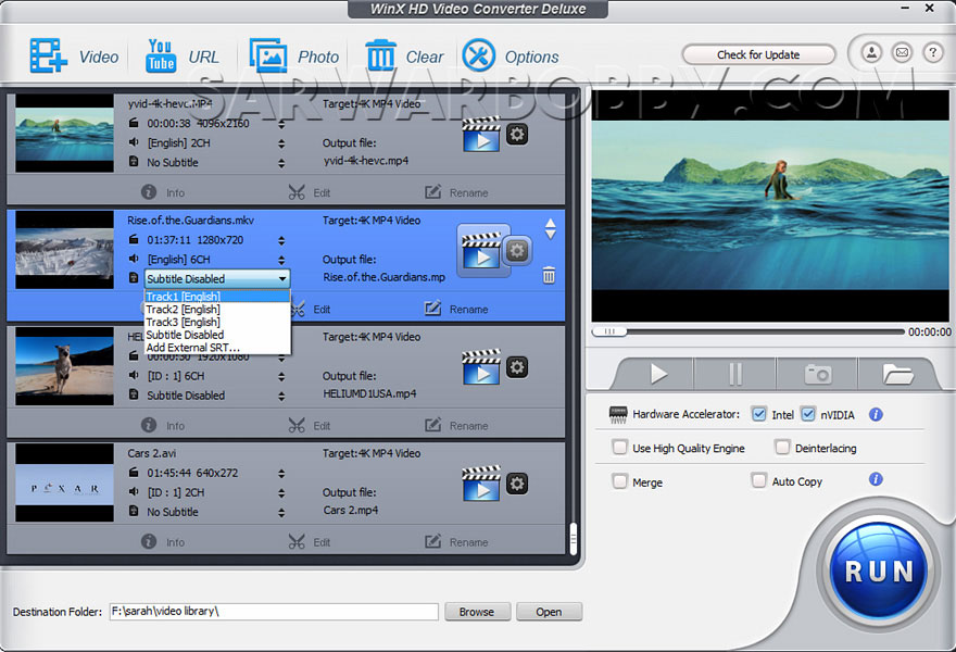 WinX HD Video Converter Deluxe 5 Free DOwnload Full Version - SarwarBobby.Com