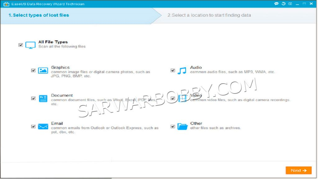 EaseUS Data Recovery Wizard Technician 14.0 + WinPE Free Download - SarwarBobby.Com