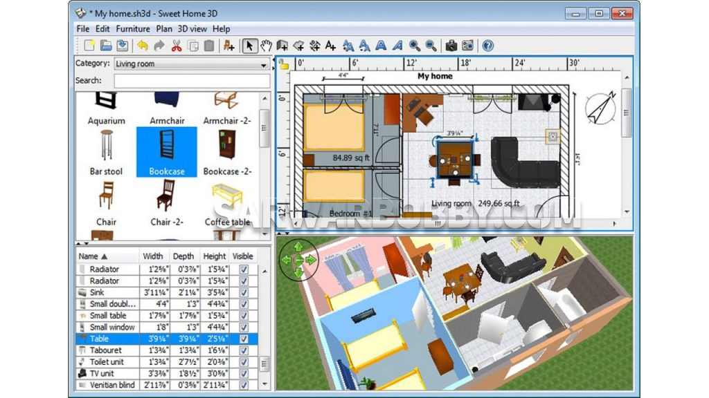 Sweet Home 3D v6.5.2 Latest Free Download 3 - SarwarBobby.Com
