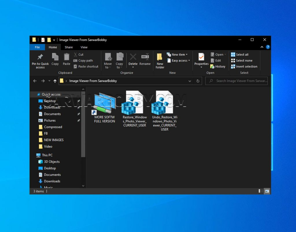 Restore Windows Photo Viewer in Windows 10 - 2  - SarwarBobby.Com