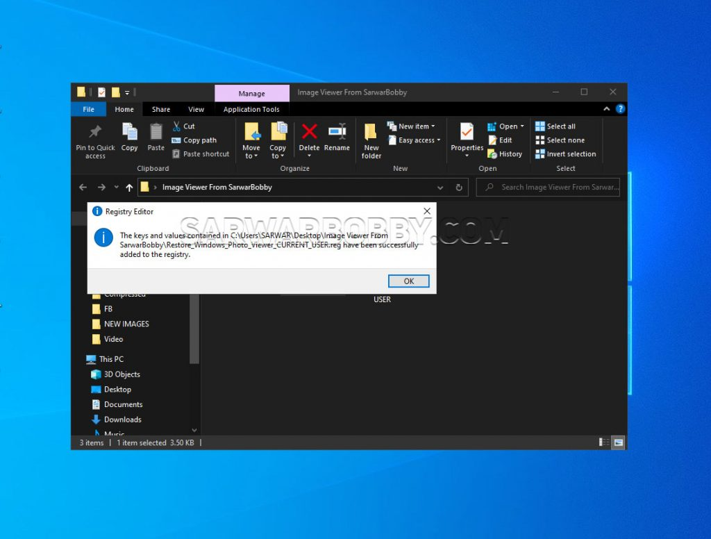 Restore Windows Photo Viewer in Windows 10 - 5  - SarwarBobby.Com